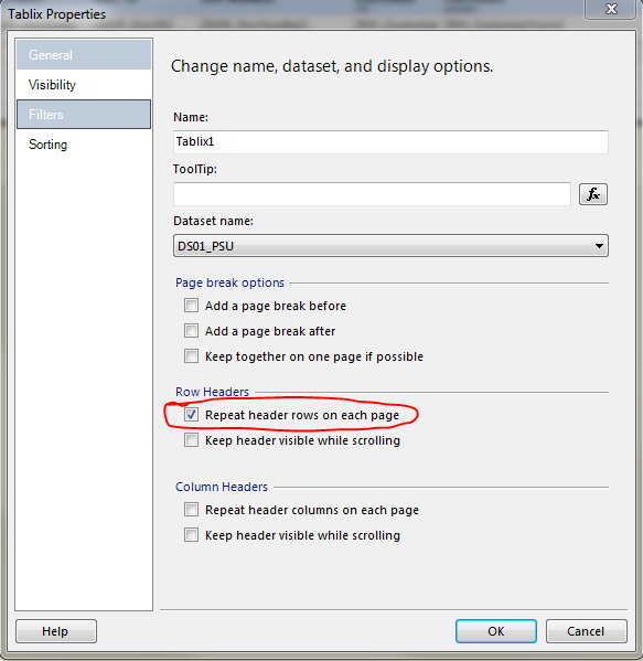 SSRS – Repeat Header Rows On Each Page – Not Working