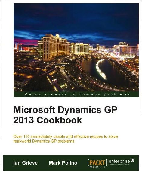 dynamics gp cockbook Microsoft dynamics nav is an enterprise resource planning (erp) software suite  for organizations the system offers specialized functionality.