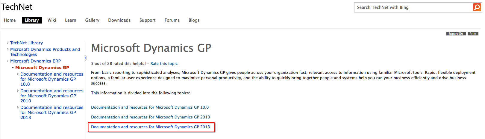 microsoft dynamics gp 2013 manuals